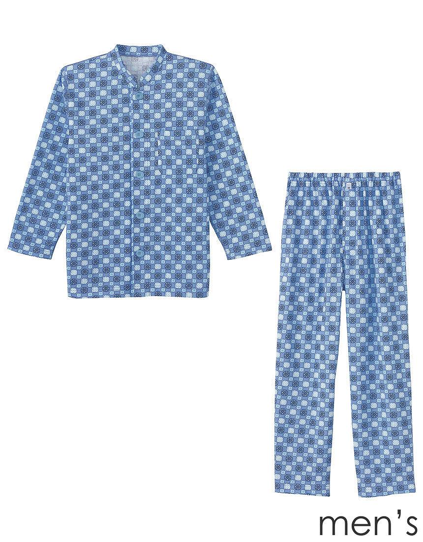 紳士パジャマ【長袖・エッグボタン(R)】 メンズパジャマ