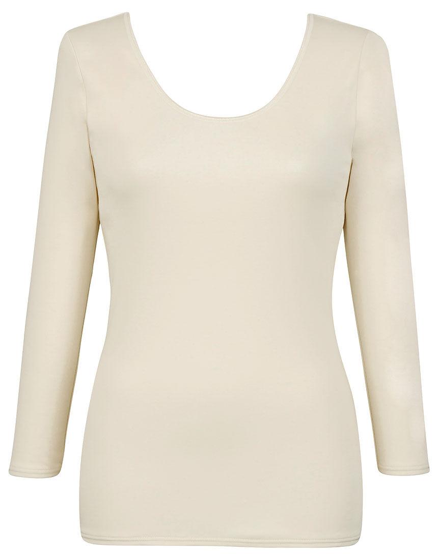 綿100%、洗濯してもやわらかさつづく 【綿の贅沢リッチ】 トップス(8分袖)