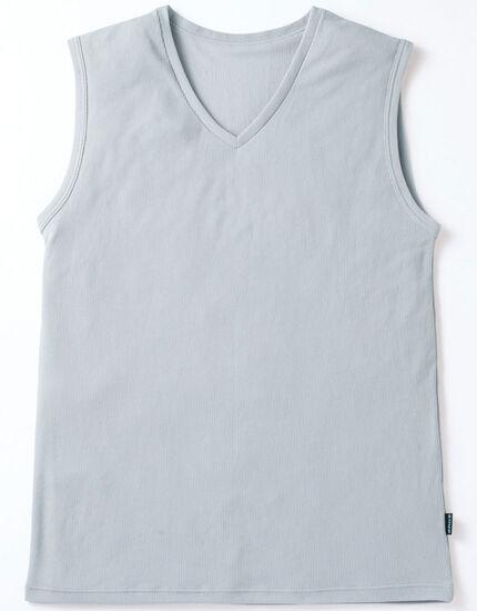 V首スリーブレスシャツ, , main