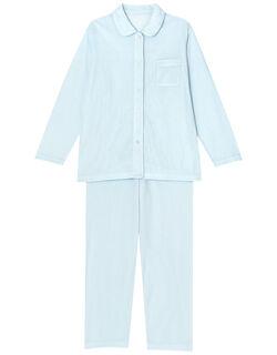 肌感(R)パジャマ【肌側綿100%】水玉柄 パジャマ