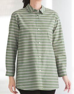 先染ボーダービッグシャツ