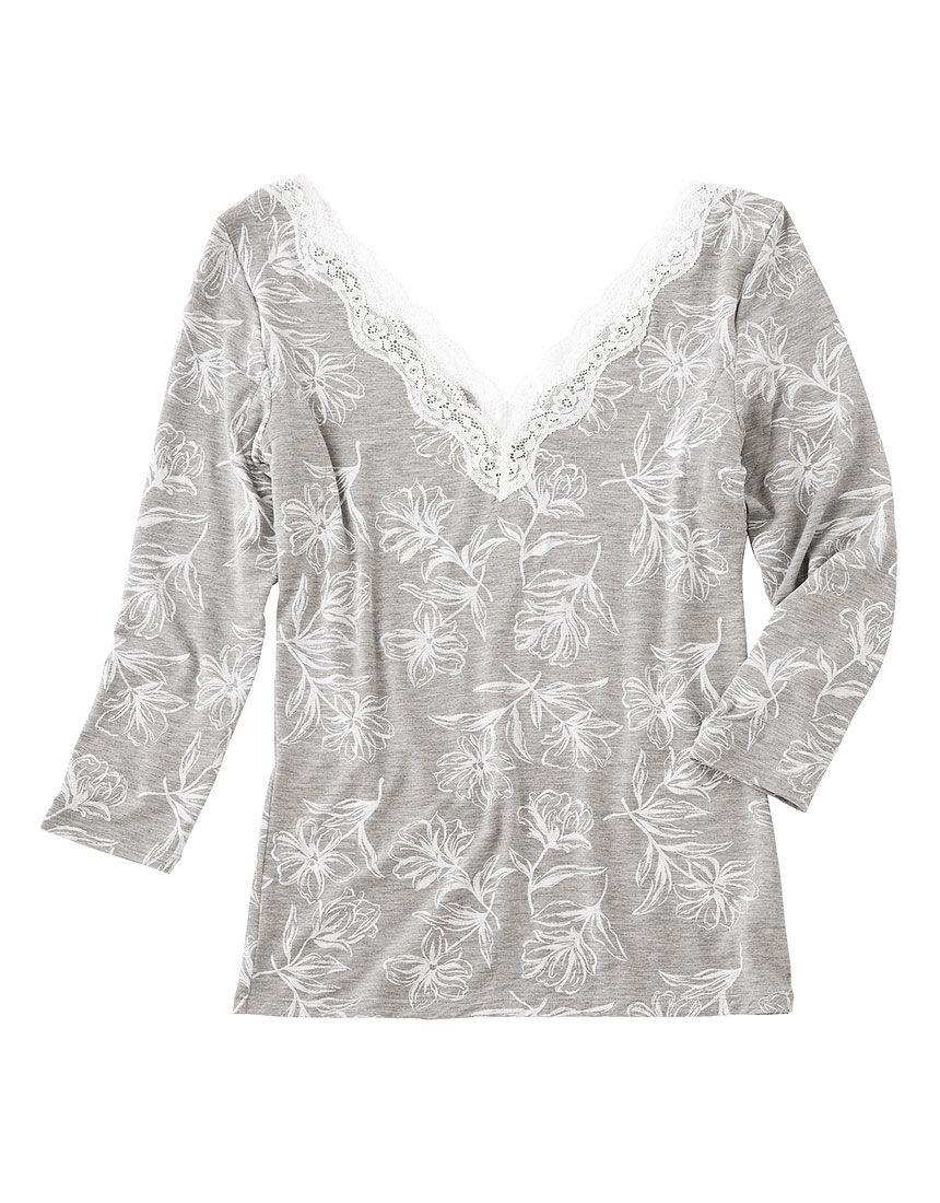 【保湿加工!抗菌防臭・消臭加工した汗取りパッド付き】It'sモイスティ 9分袖シャツ