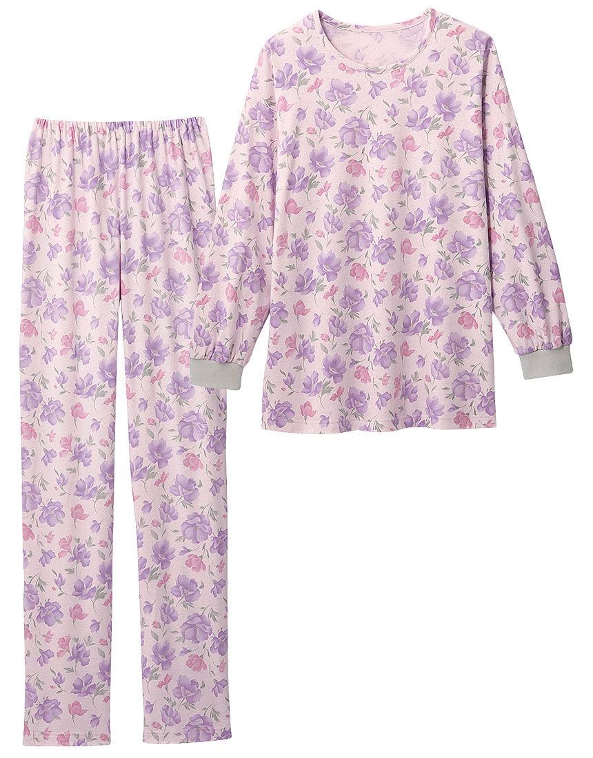 なめらか花柄パジャマ, , hi-res