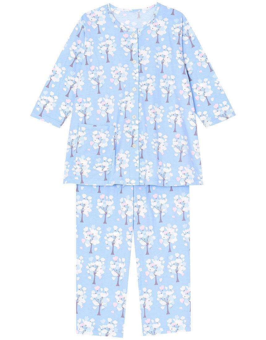 【綿100%】グレープフラワー柄 パジャマ