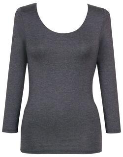 【秋冬インナー】なめらかな肌ざわりでよく伸びる <とろみ> 8分袖