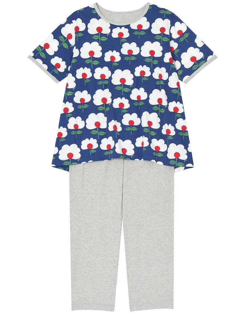 【綿100%】たまごお花柄 パジャマ