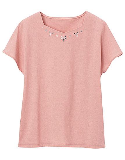 ビジュー付Tシャツ, , main
