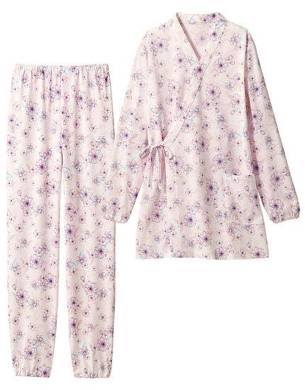 綿のさわやかきもの風パジャマ, , main