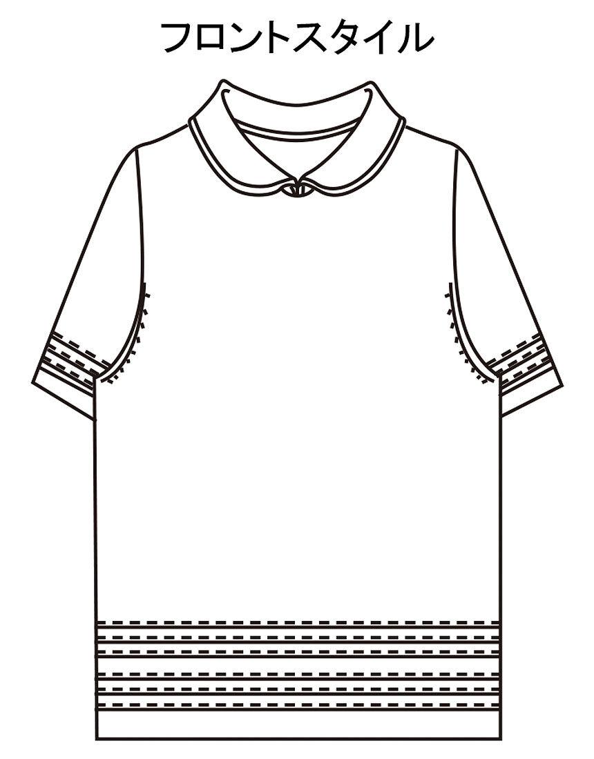 麻襟付デザインセーター, , hi-res