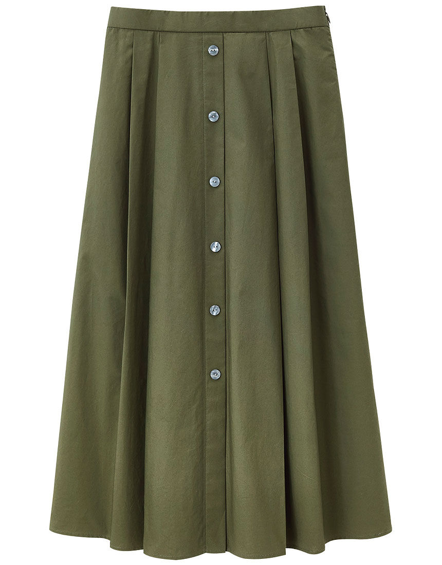 前釦デザインスカート