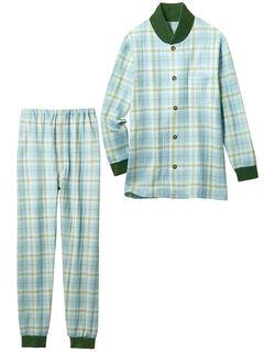 【あったか】 ベロア付ニットキルトパジャマ(男性用)