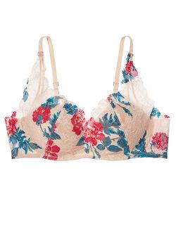 グミワイヤーが優しくなじんで自然な美胸。らくちんお洗濯OKの総レースブラ。ミラクルヌーディ(R)ブラ フルカップブラ