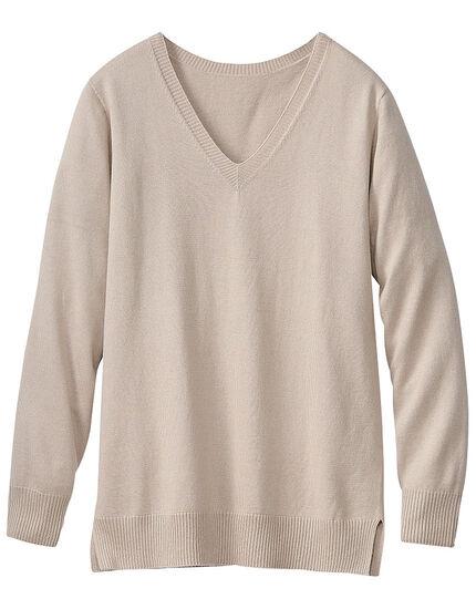 Vネックセーター, , main
