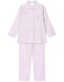 肌感(R)パジャマ【ピマ綿100%】【二重ガーゼ】ストライプ柄 パジャマ