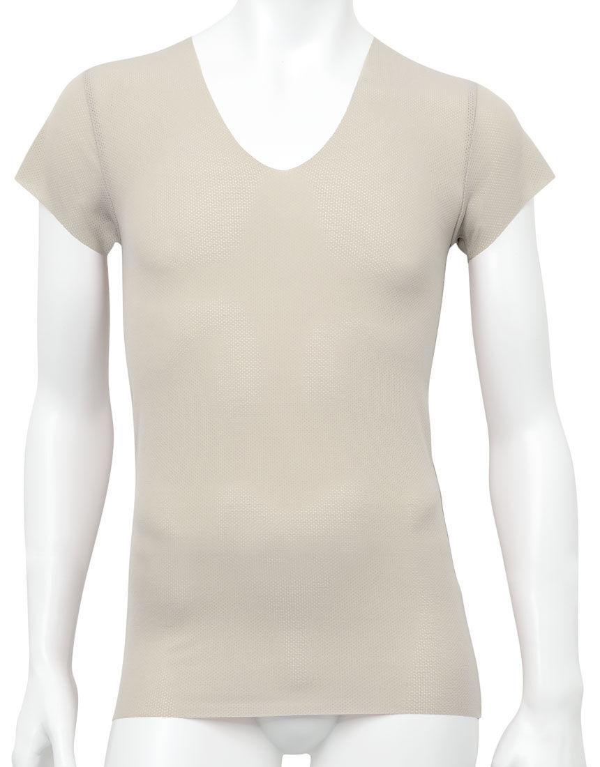 深V首半袖シャツ, , hi-res