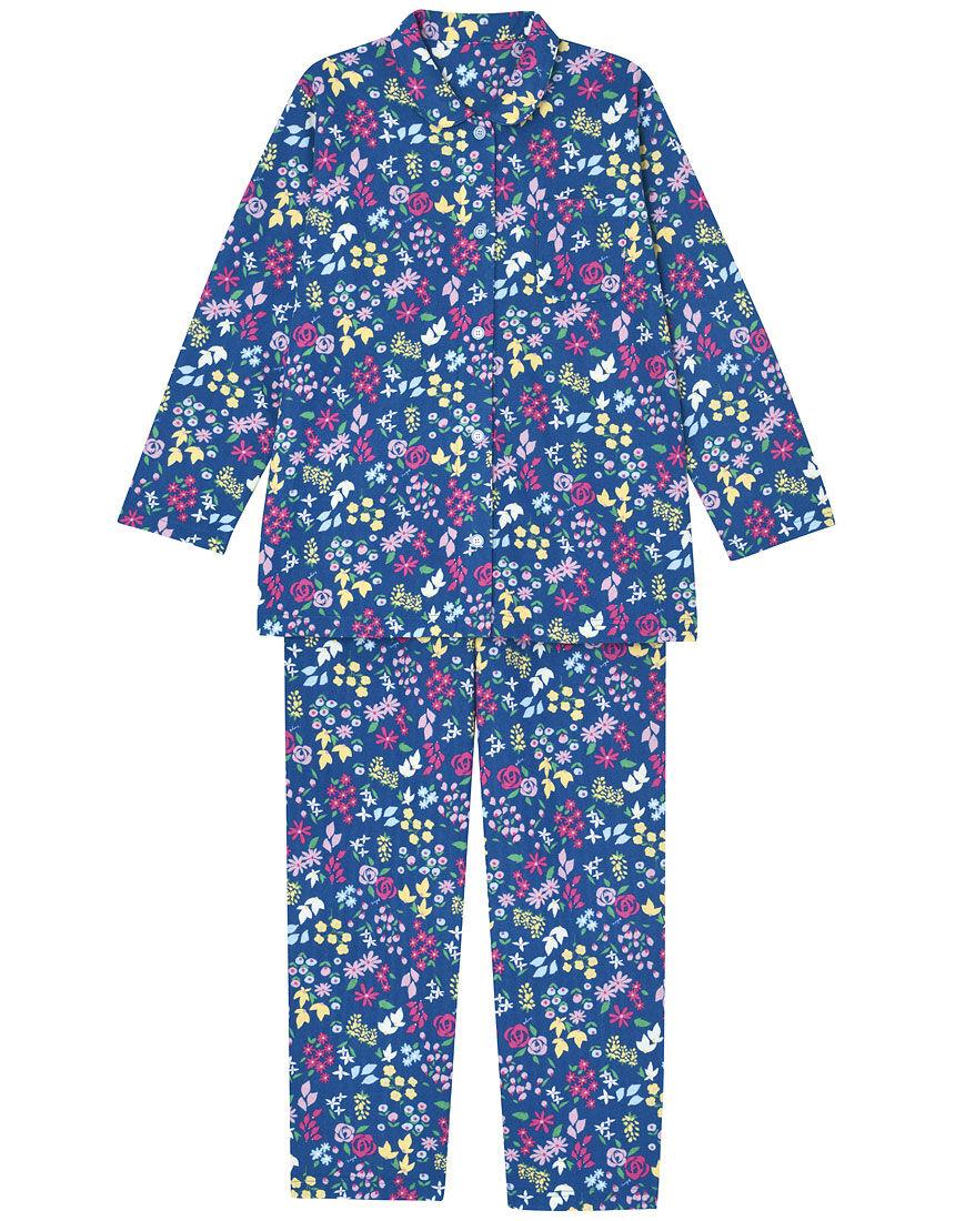 【肌側綿100%】【あったか】花柄きらきら パジャマ