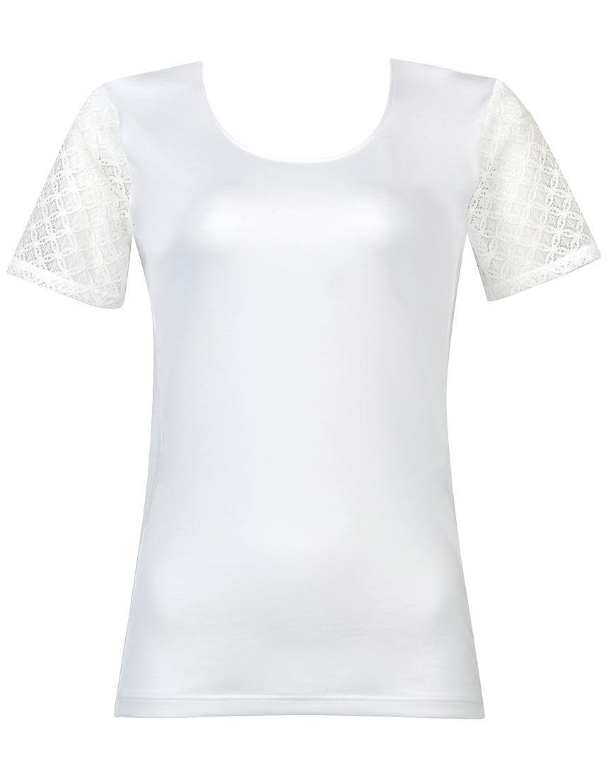 細見せTシャツ トップス(3分袖)