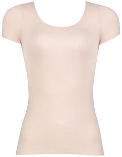 綿混&肌あたりのやさしい トップ(2分袖)