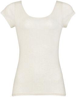 再生コラーゲン繊維使用の保湿性の高い トップ(2分袖)