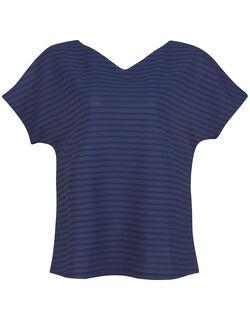 クーリングTシャツ 洋服に合わせて前後逆にして着用可能な トップス(3分袖)