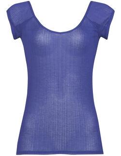 涼やかな空気をまとったような着ごこちの [リブタイプ]汗取りパッド付 トップ(フレンチ袖)