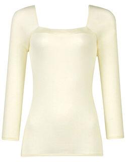 【肌美ストHot】 再生コラーゲン繊維使用 保湿性 トップ(9分袖)