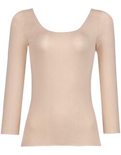 綿混&肌あたりのやさしい[保温性] トップス(8分袖)