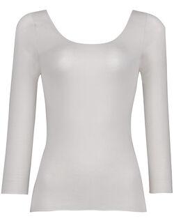 綿混&肌あたりのやさしい[保温性] トップ(8分袖)