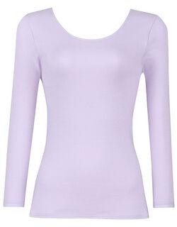 厚手生地でしっかり暖かく、やわらかな着ごこち 綿100%[極暖] トップ(8分袖)