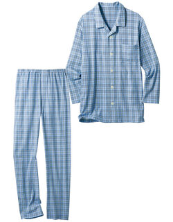 綿100%のなめらかパジャマ(男性用)