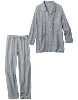 綿100%の小紋柄パジャマ(男性用)