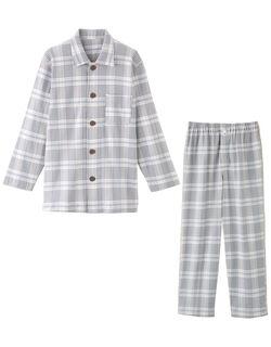 【長袖・エッグボタン(R)】 紳士パジャマ