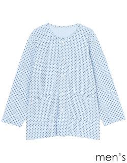 紳士全開パジャマ上【長袖・マジックテープ(R)】 メンズパジャマ