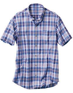 麻混半袖ボタンダウンシャツ(男性用)
