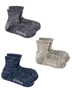 L字型靴下 クールメッシュ・ミッド3色組