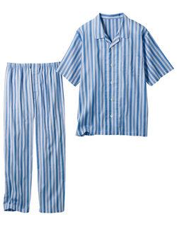 高島楊柳のストライプパジャマ(男性用)