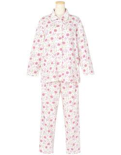 綿100%【長袖・エッグボタン(R)】 パジャマ