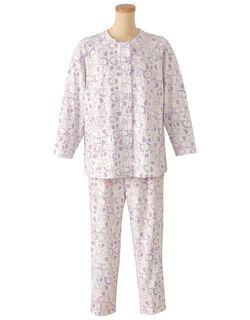 裏パイル【長袖・エッグボタン(R)】  パジャマ