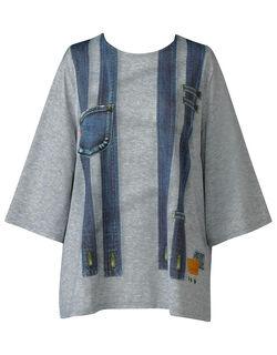 プリント柄Tシャツ8分袖 アウター トップス