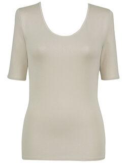 【エアロカプセル】 肌側は綿のここちよさ 5分袖