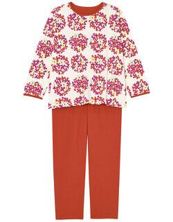 【綿100%】 ブーケお花柄 パジャマ