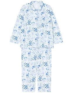 【綿100%】 ラベンダー柄 パジャマ