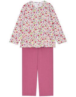 【綿100%】花彩柄 パジャマ