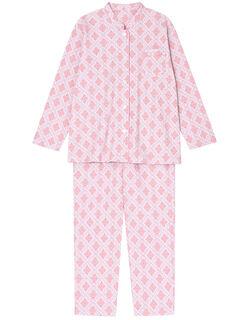 【綿100%】幾何花柄 パジャマ