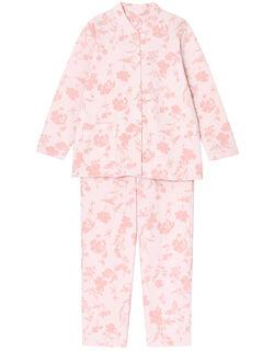 【肌側綿100%】リーフ柄 パジャマ