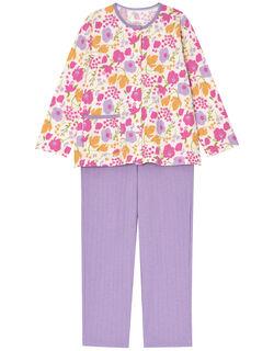 【肌側綿100%】カラフルお花柄 パジャマ