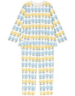 【肌側綿100%】ふわふわお花柄 パジャマ