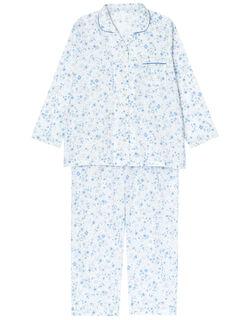 【綿100%】二重カーゼ 小花柄 パジャマ