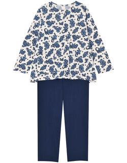 【綿100%】花ペイズリー柄 パジャマ