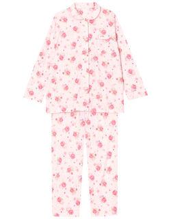 【接触冷感】ローズ柄 パジャマ